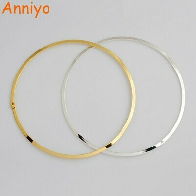 Anniyo Diameter 13cm/5.18inch.Ethiopian Chokers Necklaces for Women Round Necklace Gold