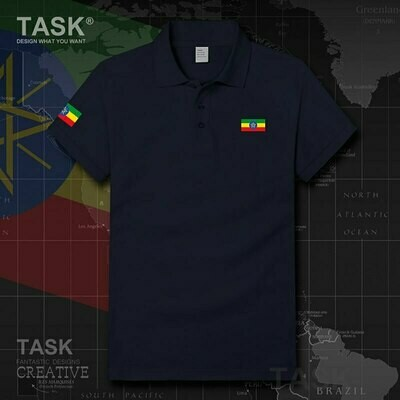 Polo-Shirt Ethiopian-Horn Short-Sleeve Army Cotton Mens High-Quality Brand-New Africa