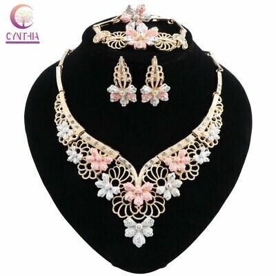Ethiopian Jewelry Necklace Rhinestone African-Costume Earrings Women's Fashion And CYNTHIA