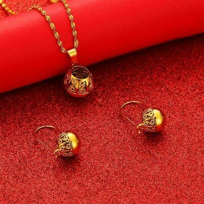 Pendant Jewelry Ethiopian African Earrings Gold-Color Girls Wholesale Women Fashion