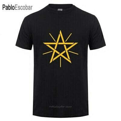 T-Shirt Men Ethiopian Short-Sleeve Cotton Summer Fashion Camisetas Logo