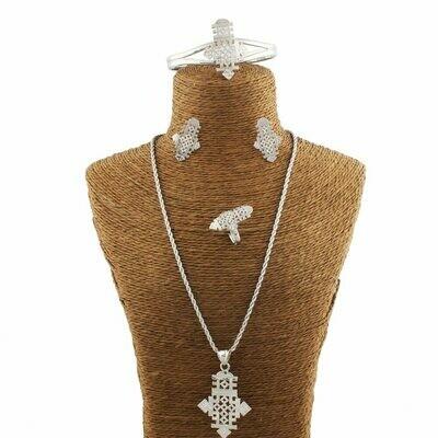 Jewelry Ethiopian Coptic African Gift Bride Earring/ring-Set Adixyn