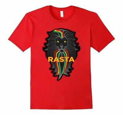 Women Tshirts Clothing Ethiopian Rasta Reggae Flag-Color Lion Tee-Rt