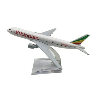 Model-Toys Airplanes Collection Aircraft Metal Gifts Kids Boeing B777 16CM Ethiopian