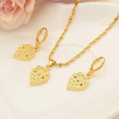 Earrings Jewelry-Sets Necklace Habesha Ethiopian Eritrea Gift Pendnat Africa Bridals