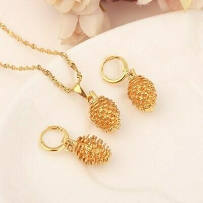 Earring-Set Jewelry-Collection Pendant Necklace Ethiopian Habasha-Eritrea African-Bridge