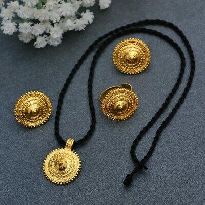 Jewelry-Sets Necklaces-Earrings Ethiopian-Pendant Wedding-Jewellery Wando-Dubai African
