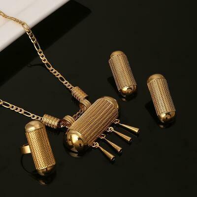 Jewelry-Sets Necklace Earrings Ethiopian African Eritrea-Habesha Wedding-Pendant Gift