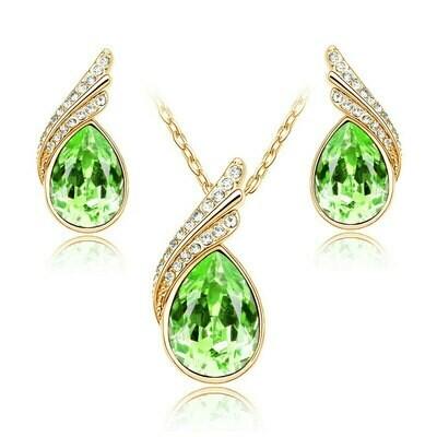 Earrings Jewelry-Sets Bijoux Mariage Parure Wedding-Dubai Statement Women