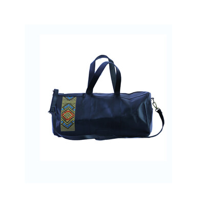 Black one of a kind Root in style weekender bag, Made with first grade cow leather