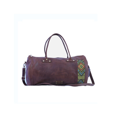 Dark Brown one of a kind Root in style weekender bag