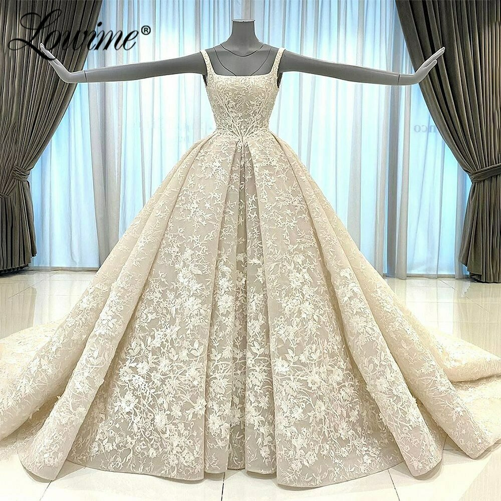 Top Wending-Dress Under-Skirt Pearl Long-Sleeve Sequin Applique White with HTL1428
