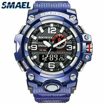 Digital Watch Quartz SMAEL Sport-8035 Led 50m Dual-Time