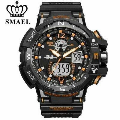 Clock Wrist-Watches Quartz Digital SMAEL Top-Brand Men's Luxury Relogio Male LED Sport