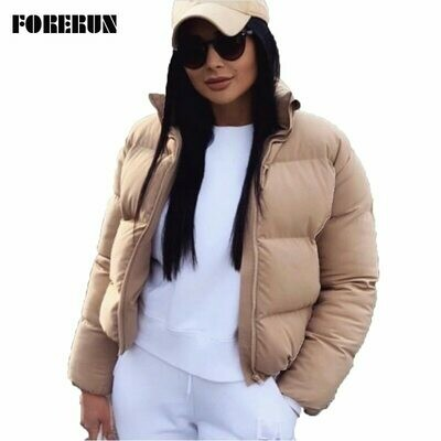 Short Jacket Parkas Bubble-Coat Oversized Female Autumn Fashion Winter Standard-Collar