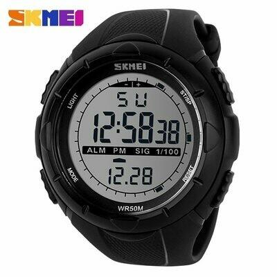 Watch Sport Pu-Strap Military-Alarm SKMEI Digital Waterproof 30m LED Brand Simple