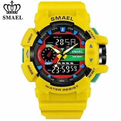 Military Watches Led Quartz SMAEL Outdoor Waterproof Relogio Sport Dual-Display Masculino