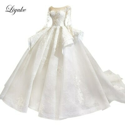 Wedding-Dress Under-Skirt Bride-To-Be Princess Applique Sleeveless Top And HTL1380 Tiered