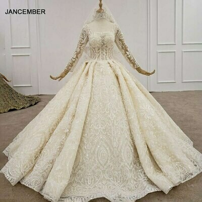 Wedding-Dresses Bridal-Gowns Photos Lceland Poppy Beaded Lace Appliques Sleeveless Real