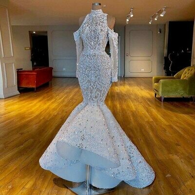 Ball-Gown Wedding-Dresses Vintage Beaded Sleeve Chapel-Train Lace Appliques Luxury-Cap