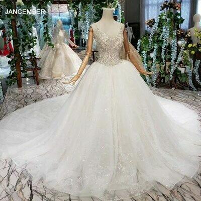 Wedding-Dresses Muslim Bridal-Gowns Arabia Luxury Saudi Dubai No Vestido-De-Novia Middle-East