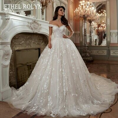 Ball-Gown Bridal-Dresses Beading Sweetheart Sexy Robe-De-Mariee Appliques Lace-Up Princess