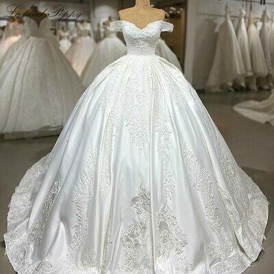 Wedding-Dresses Beaded-Crystals Stunning High-Neck Mermaid Long-Sleeves Luxurious Dubai