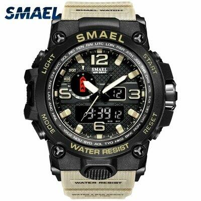 Sport Watch Quartz-Clock S-Shock Waterproof Relogios Male LED 1545 50m Masculino Men