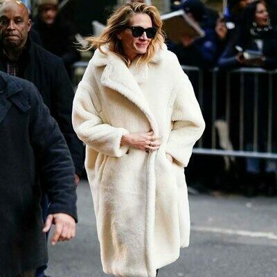 Teddy Coat Jacket Streetwear Beige Cashmere Female Warm Girls Autumn Winter Women Stylish