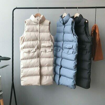 Vest Gilet Spring Women Chaleco Warm Feminino Mujer Casaco Tops Coat-Stand-Collar