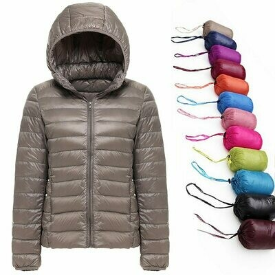 Warm Coat Parka Down-Jacket Duck Ultralight Female Autumn Winter 90%White-Duck-Down Windproof