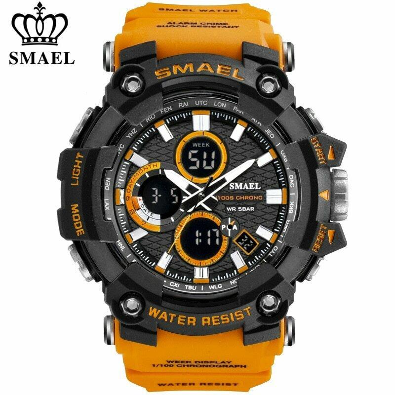 Digital Clock Quartz-Watch Shock Smael 1802 Military Sports Waterproof Luxury Male Top-Brand