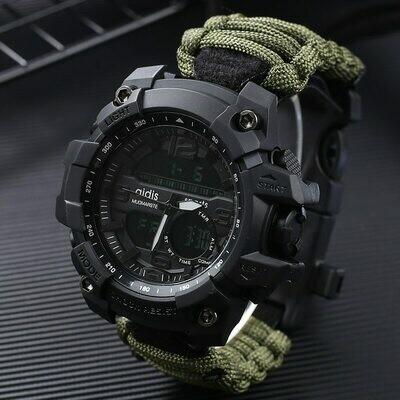 Military-Watch Wristwatches Compass Clock Display Digital Electronic Waterproof Male Fashion