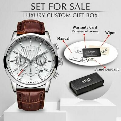 Male Wristwatches Clock Strap Date Quartz Business Top-Brand Casual Luxury Fashion LIGE