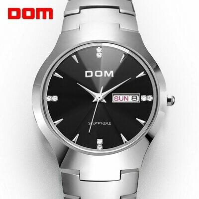 Quartz Watches DOM Sapphire Waterproof Business Steel Sport Top-Brand Fashion Luxury