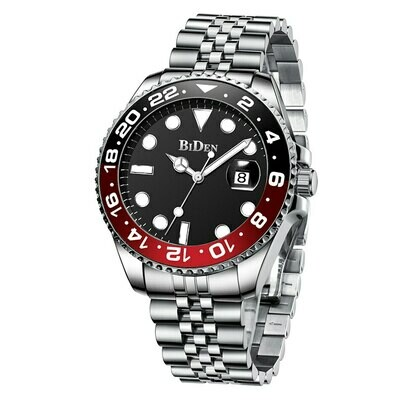 Men's Watches Present-Clock Dial Rotate Men Wrist Stainless-Steel Male's Waterproof Fasihon