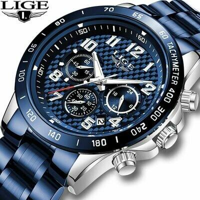 Quartz Clock Wristwatch Auto-Date-Design Casual Business Stainless-Steel Male Fashion