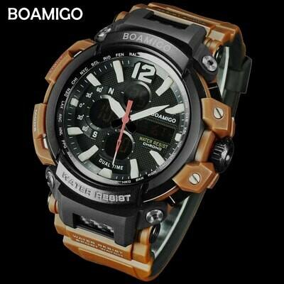 Watches Clock Shock Digital Dual-Time BOAMIGO Analog Men Sports Water-Resistant Relogio