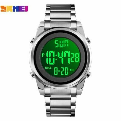 Electronic Clock Wristwatch Led-Display Digital-Movement Countdown SKMEI Japan Alarm