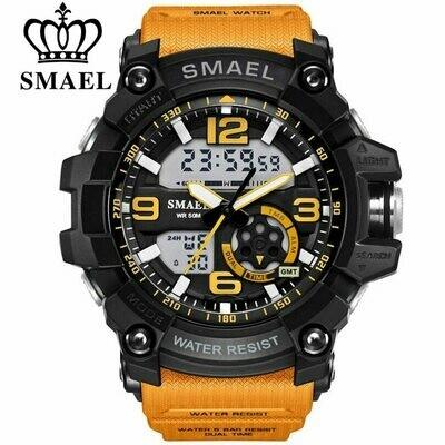 LED Quartz Wristwatch Clock Digital SMAEL 1617 Male Waterproof Men's Relogios Sport 50m