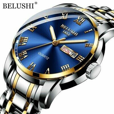 Luxury Mens Watches Calendar Business-Wristwatch Date Waterproof Top-Brand Luminous BELUSHI
