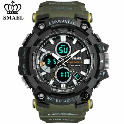Watch Military Water-Resistant Sport Smael Men Electronic Male Relogio LED for Masculino