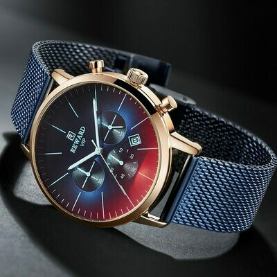 Top Luxury Wrist-Watch Chronograph Business-Clock Color Men's New-Fashion Brand Bright