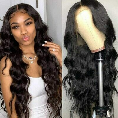 13X4 Body Wave Lace Front Wig Natural Hairline Body Wave Human Hair Wigs Brazilian Pre-plucked