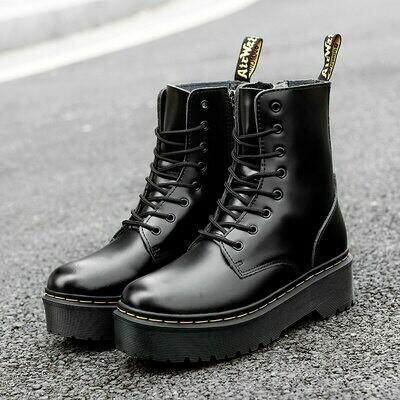 Women Shoes Boots Platform Lace-Up High-Heel Plus-Size Fashion 42