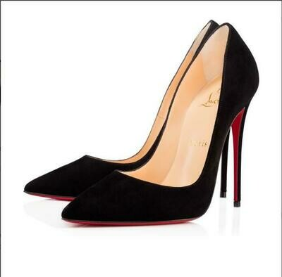 2021 Pumps Brand Women 8 10 12CM  High Heel Shoes Red Bottom Black/nude Patent Leather Red Wedding Shoes Thin Heel 34-44 Dustbag