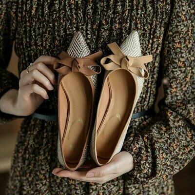 GUIDIBASIC 2021 Fashion Women Retro High Heels Shoes Pumps Shoes Thin Heel D16-Buer888-B6001