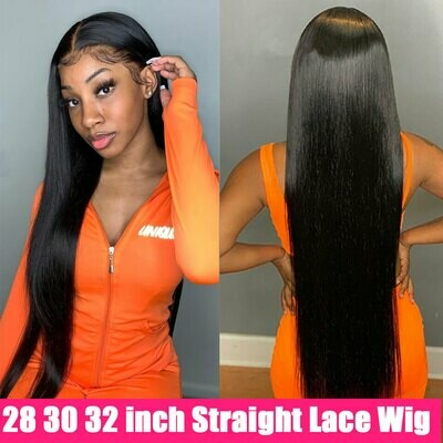Wig HD Human-Hair-Wigs T-Part Lace-Frontal 180-Density Straight 30inch Cheap Brazilian