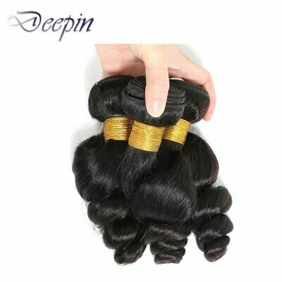 Deepin Human Hair Bundles Loose Wave Hair Bundles Peruvian Hair Weave Bundles Natural Color Hair Extensions