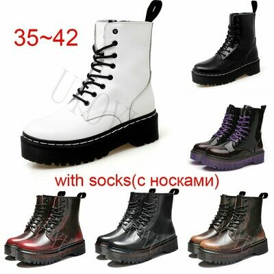 Boots Motorcycle-Shoes Ankle Warm White Women Fashion Genuine-Leather Casual Winter